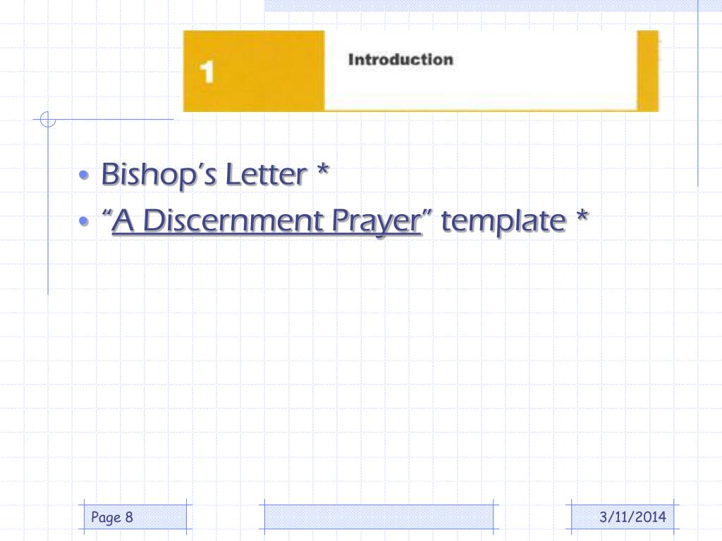 Bishop's Letter *