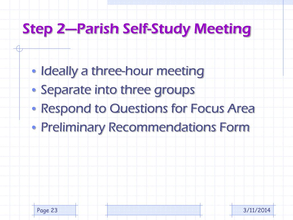 Step 2—Parish Self-Study Meeting