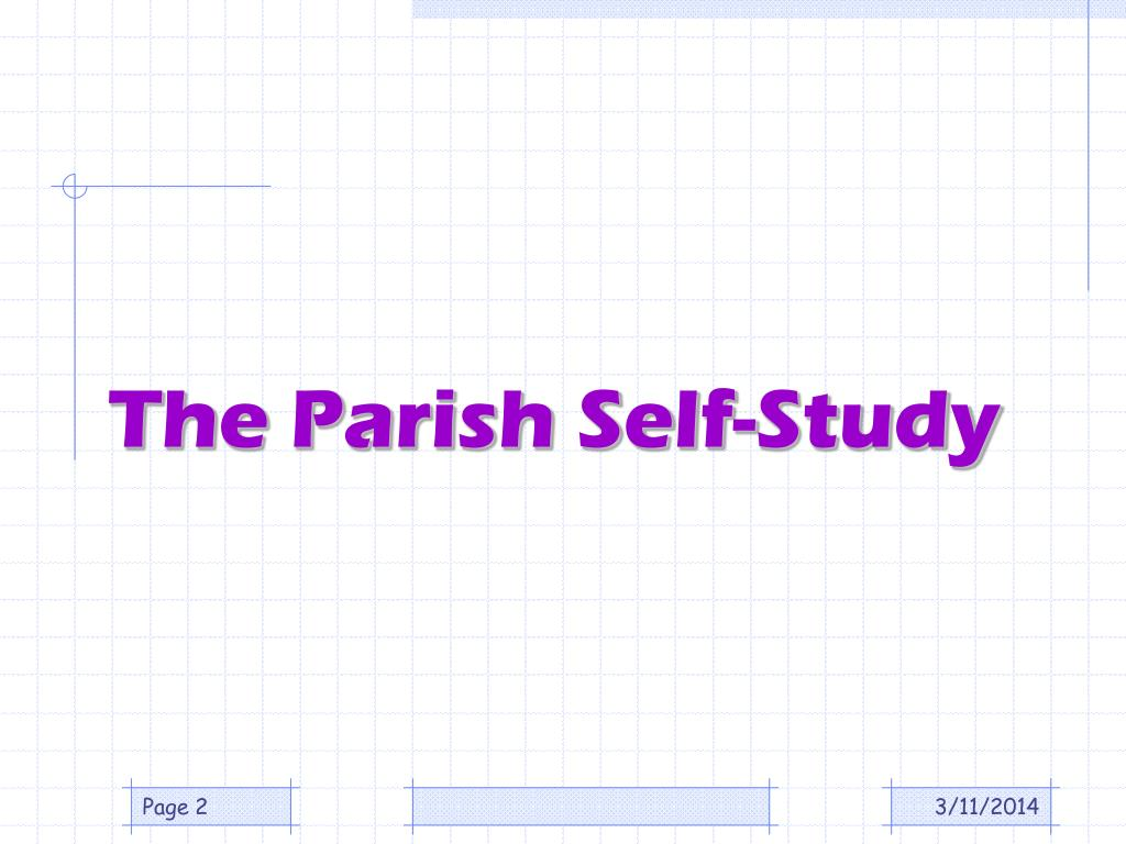 The Parish Self-Study