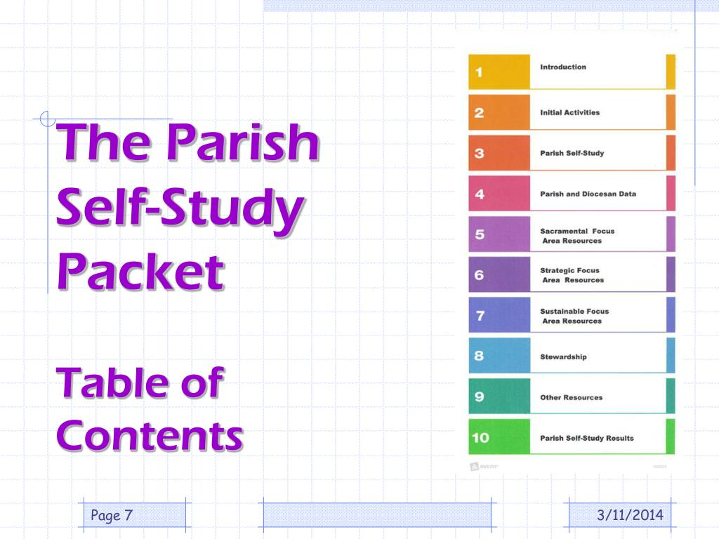 The Parish Self-Study Packet