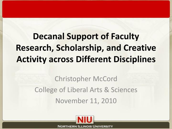 Decanal Support of Faculty Research, Scholarship, and Creative Activity