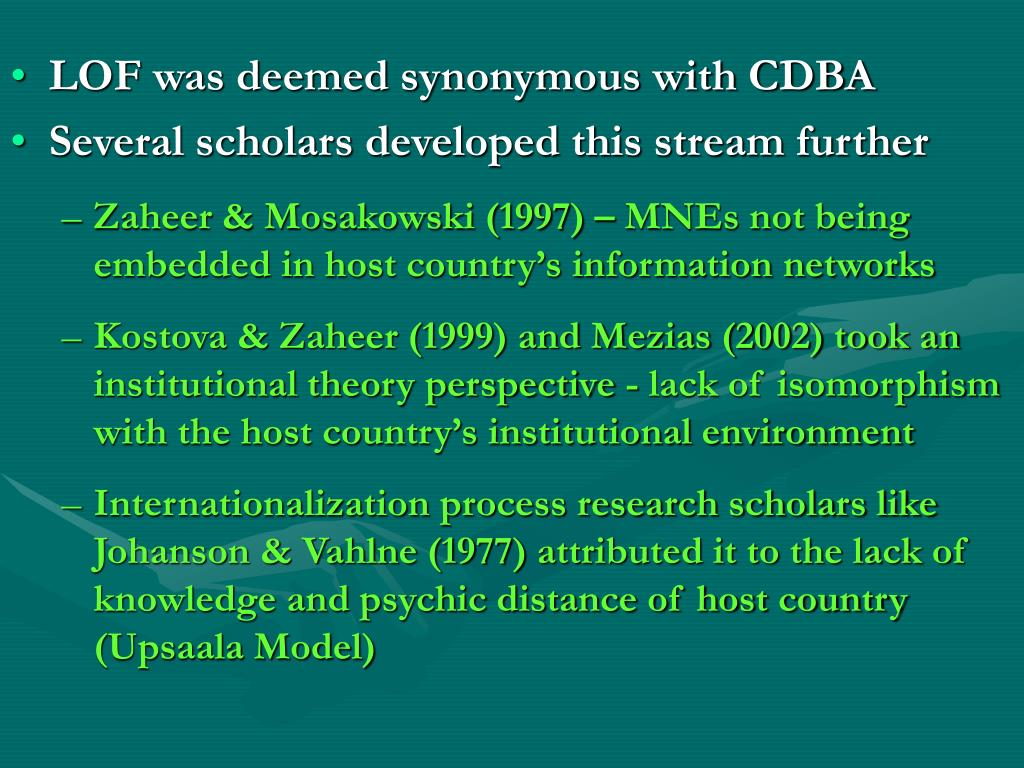LOF was deemed synonymous with CDBA