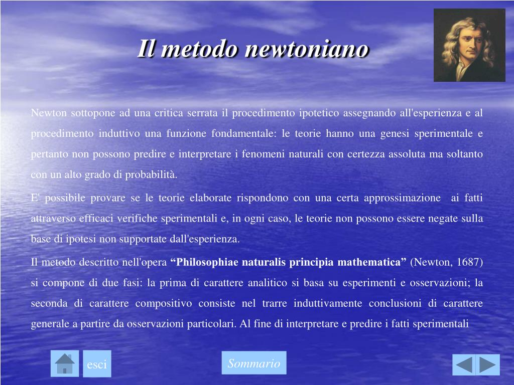 Il metodo newtoniano