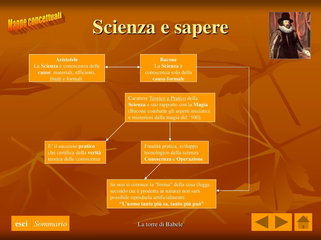 Scienza e sapere