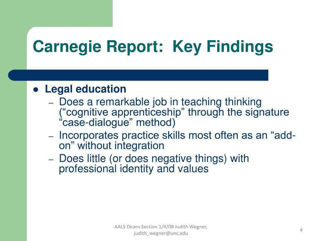 Carnegie Report:  Key Findings