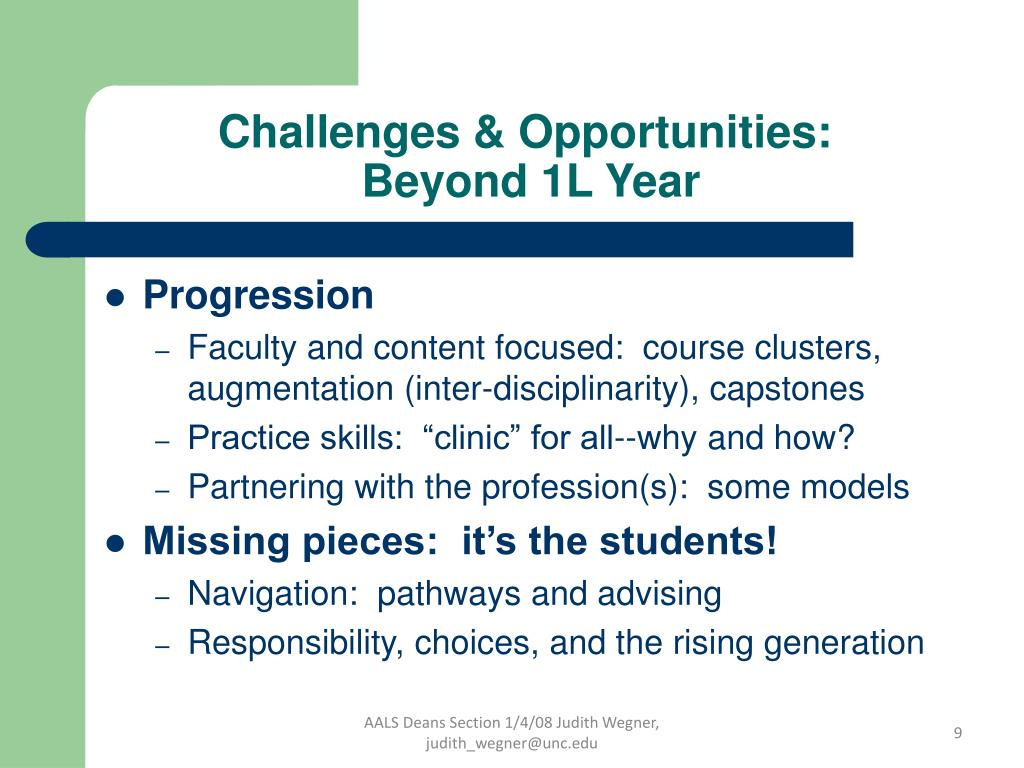 Challenges & Opportunities: