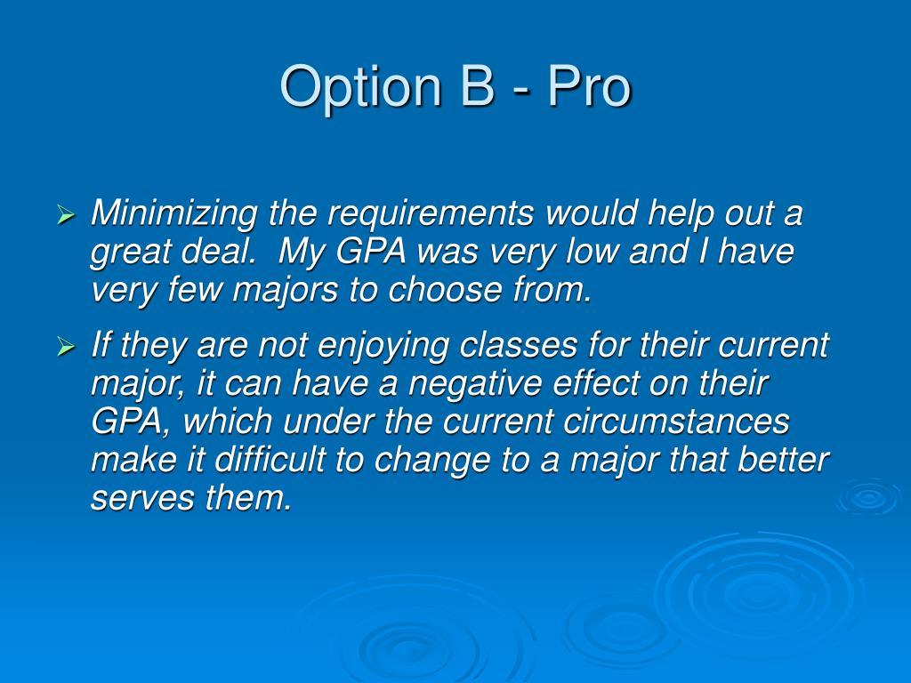 Option B - Pro