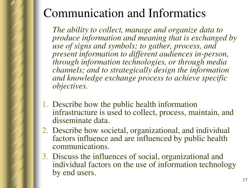 Communication and Informatics