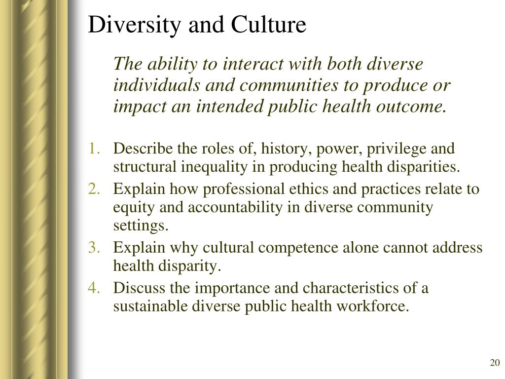 Diversity and Culture
