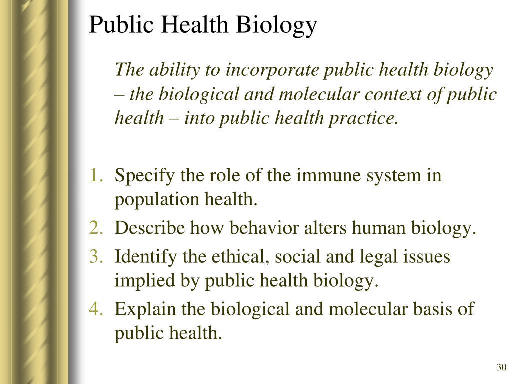 Public Health Biology