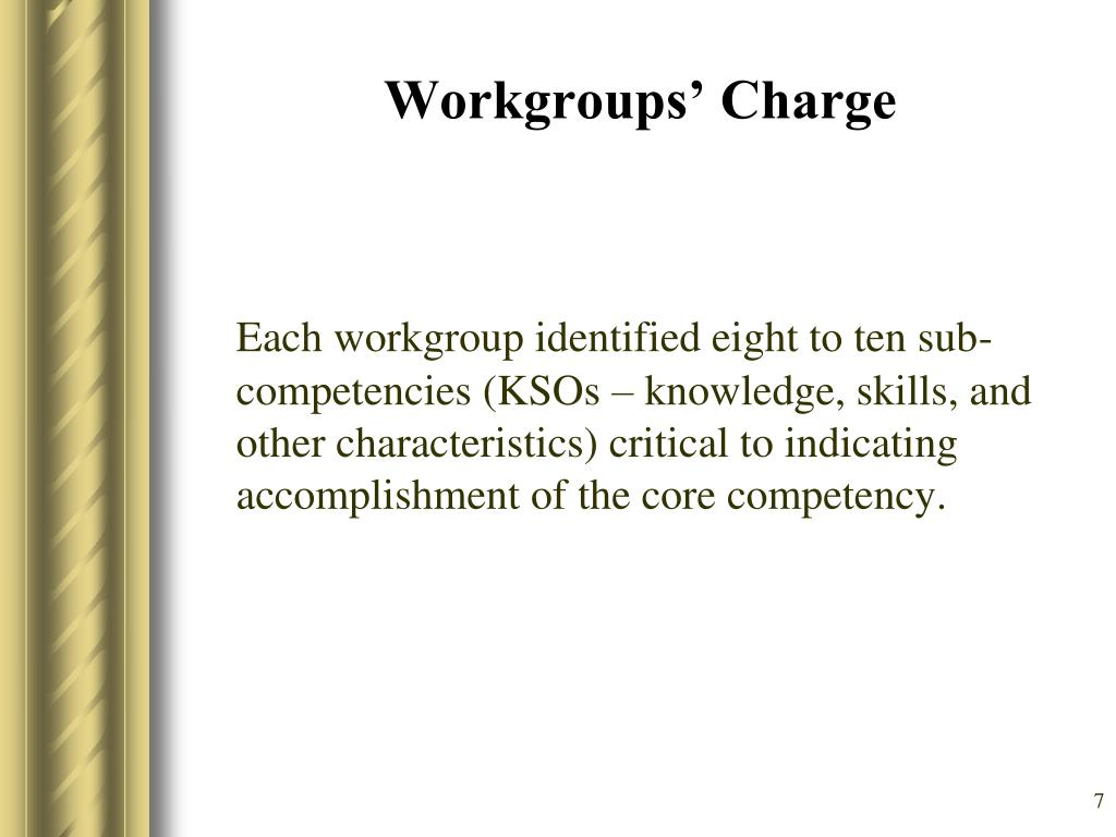 Workgroups' Charge