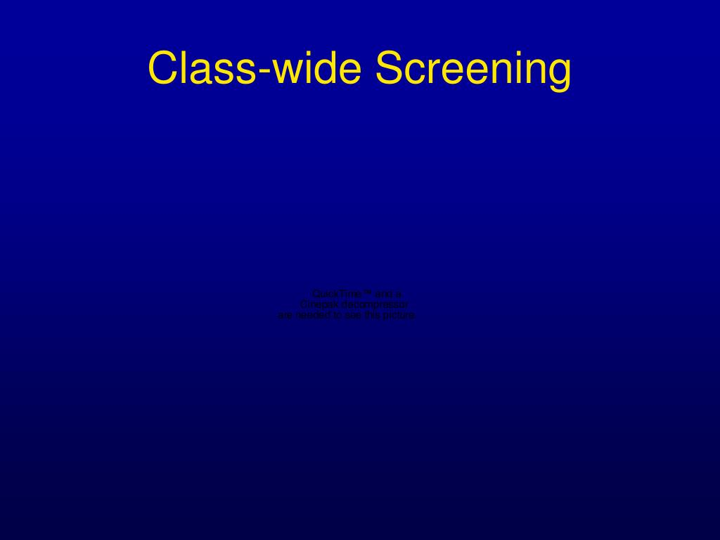 Class-wide Screening