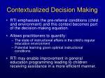 contextualized decision making