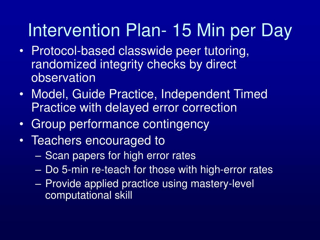 Intervention Plan- 15 Min per Day