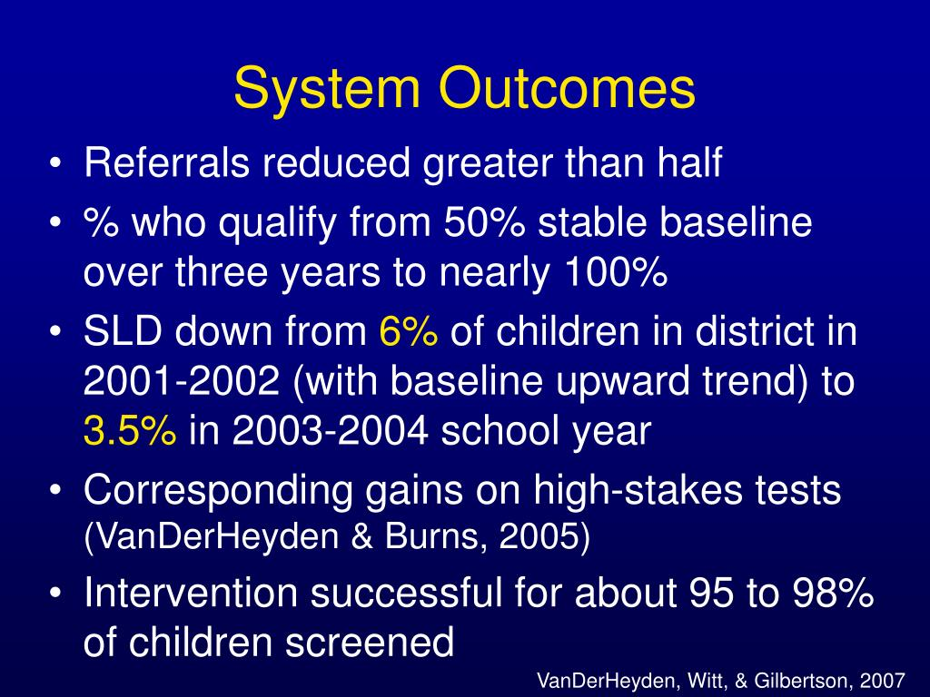 System Outcomes