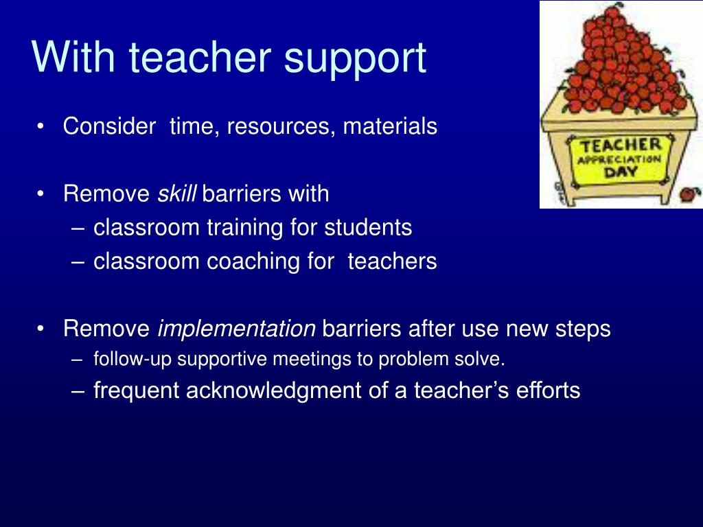 With teacher support