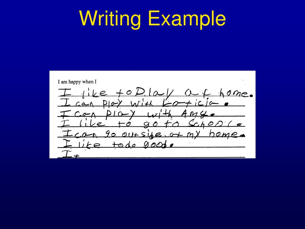 Writing Example