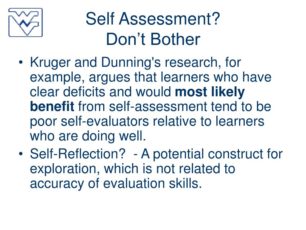 Self Assessment?