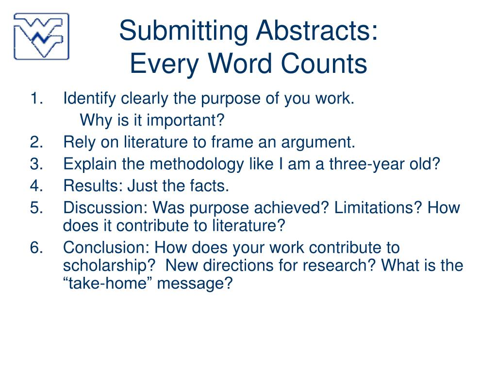 Submitting Abstracts:
