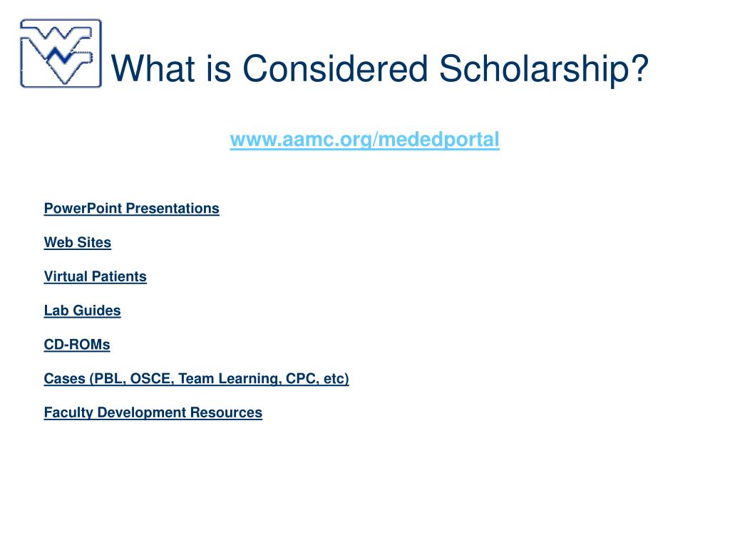 What is Considered Scholarship?