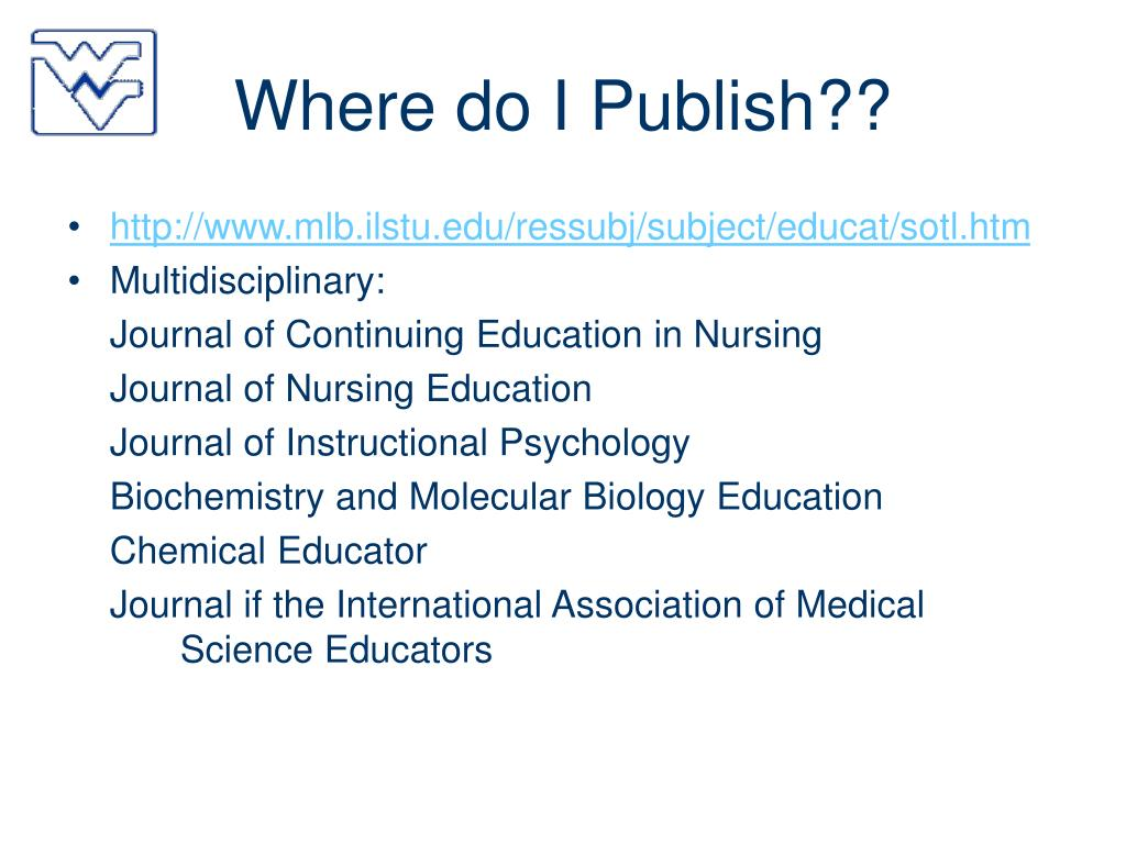 Where do I Publish??