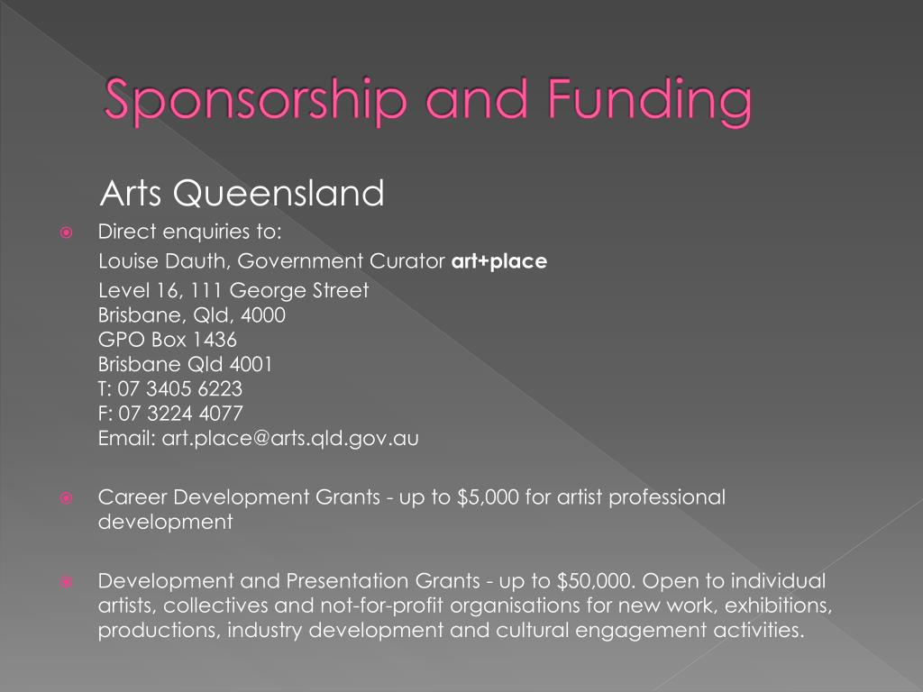 Sponsorship and Funding