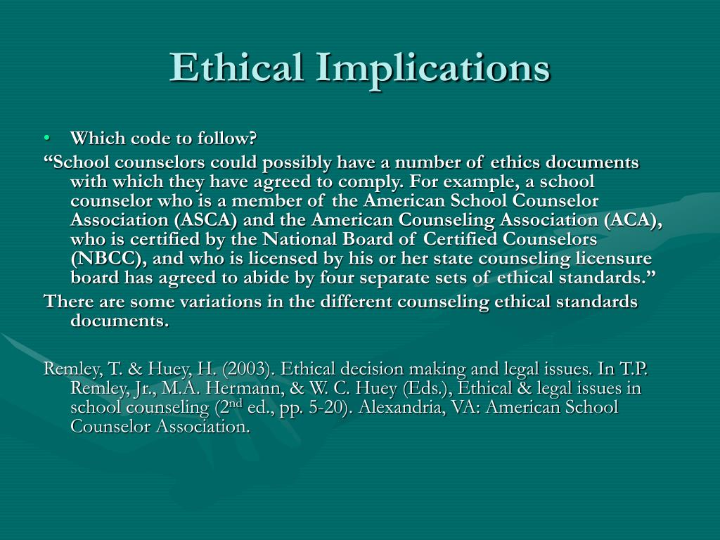 ethical issues in counseling Although counselors and psychologists remain focused in their professional  ethics by following ethical standards which are similar this is not.