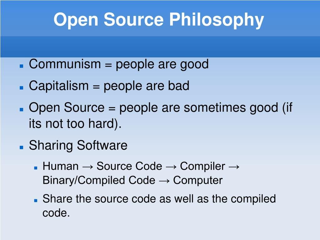 Open Source Philosophy