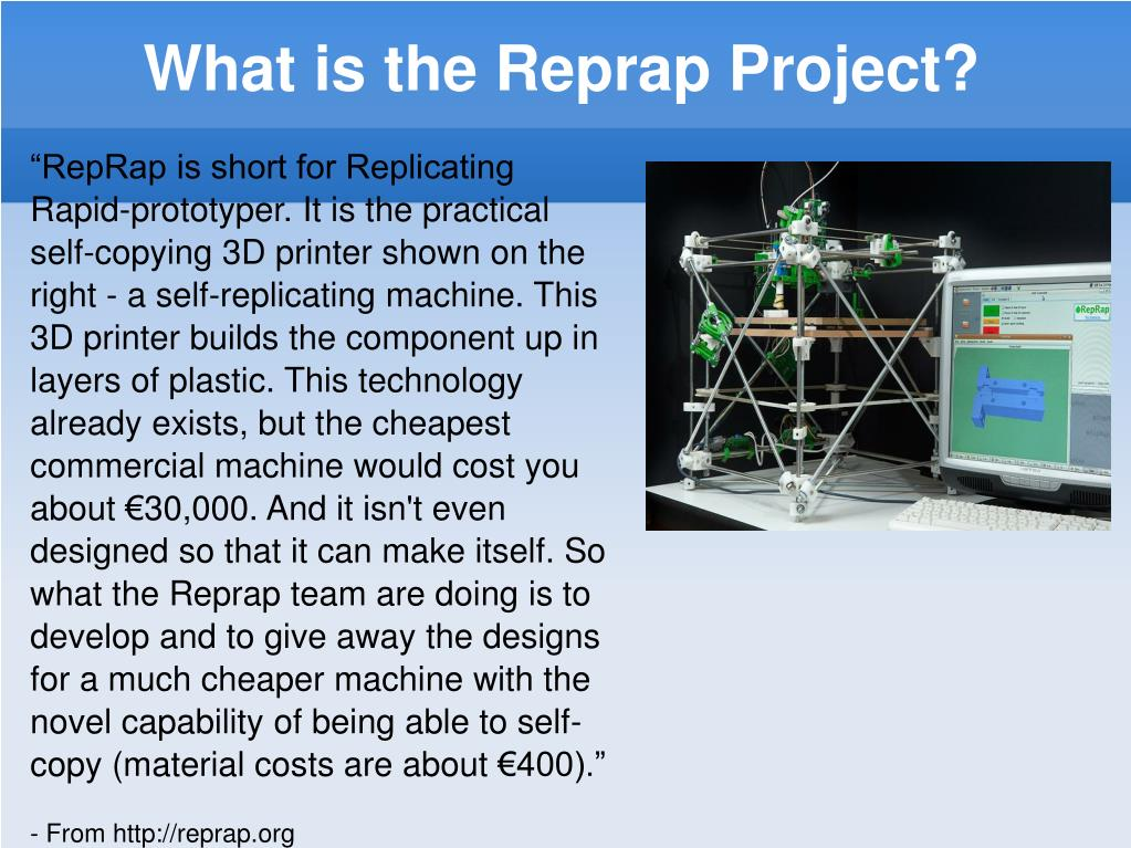 What is the Reprap Project?
