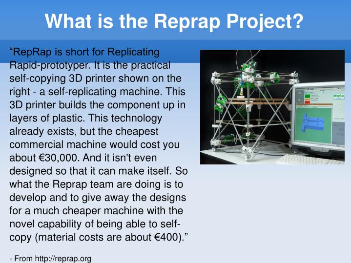 What is the reprap project