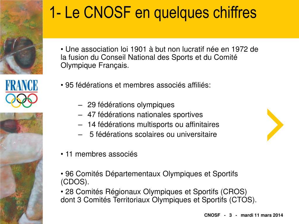 1- Le CNOSF en quelques chiffres