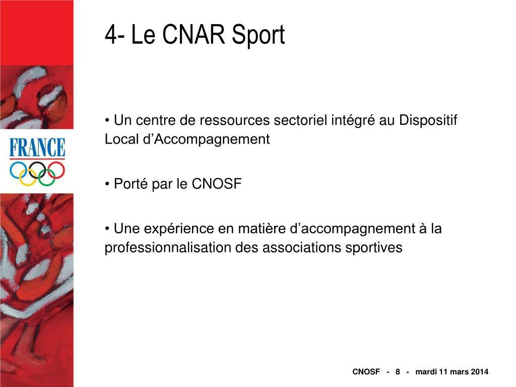 4- Le CNAR Sport