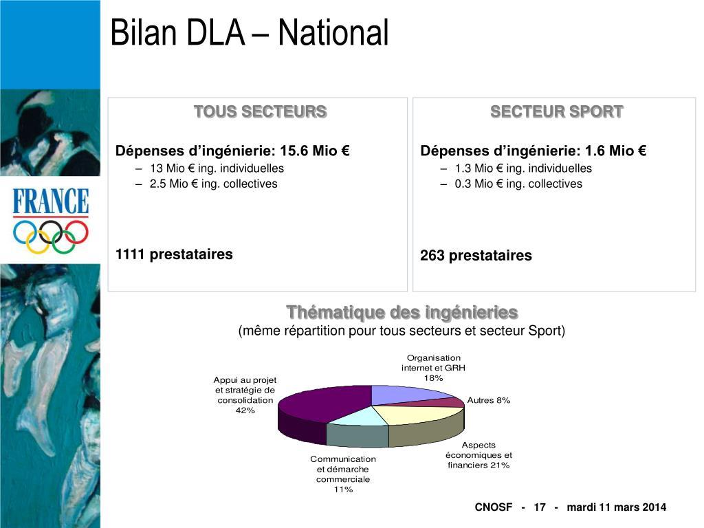 Bilan DLA – National
