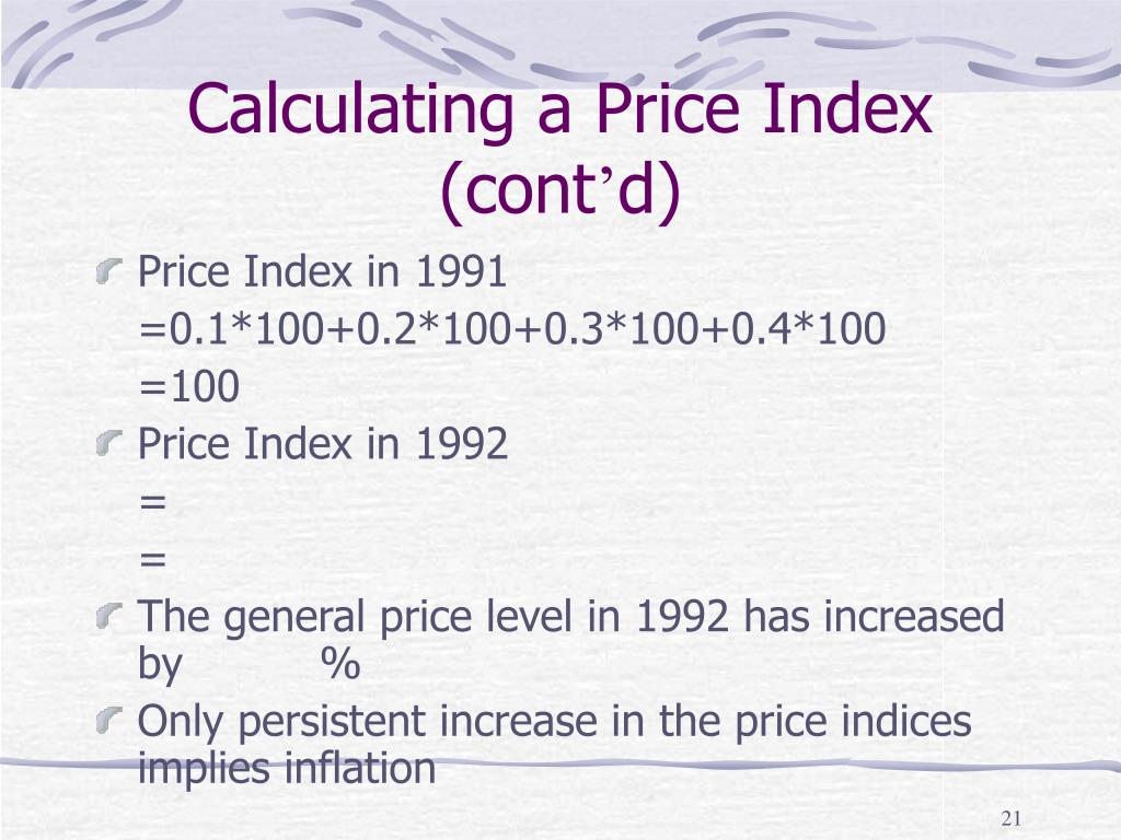 Calculating a Price Index (cont