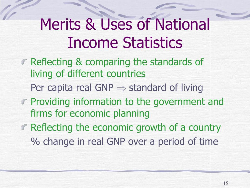 Merits & Uses of National Income Statistics