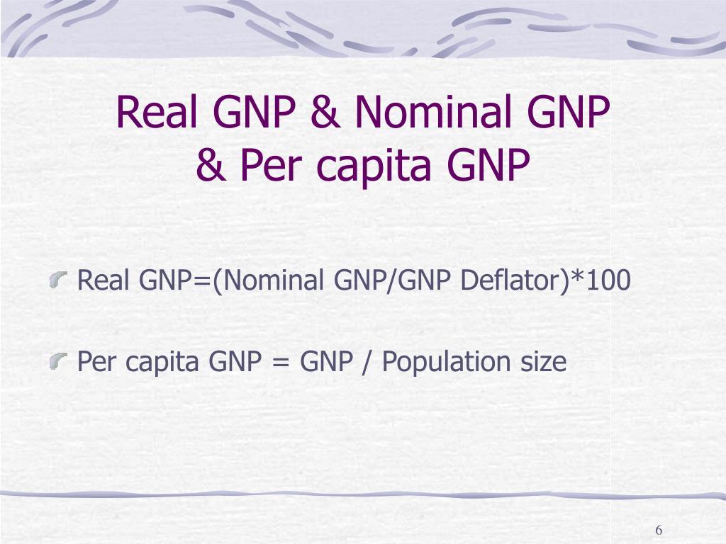 Real GNP & Nominal GNP