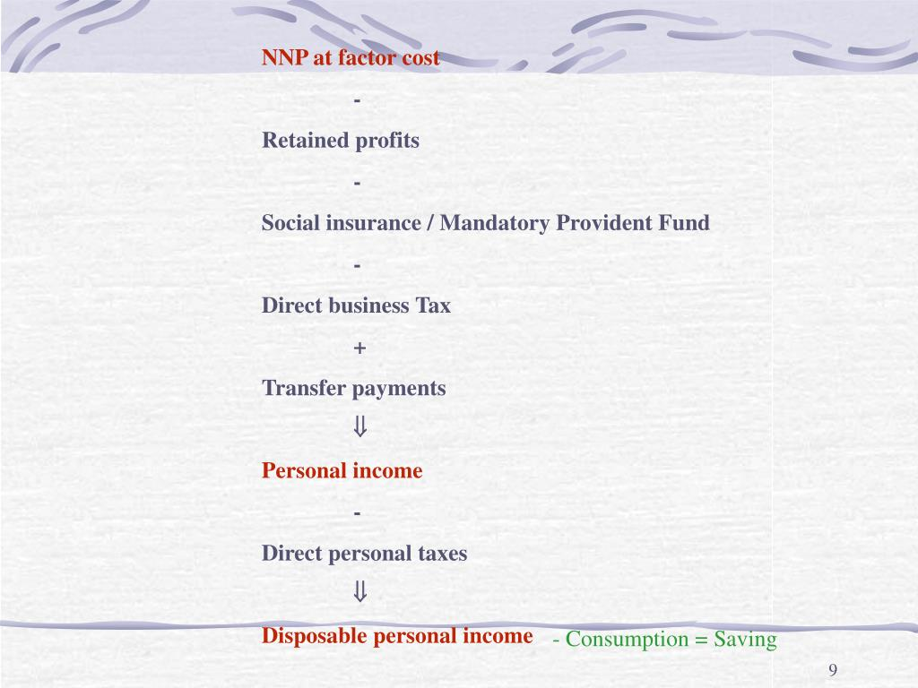 NNP at factor cost
