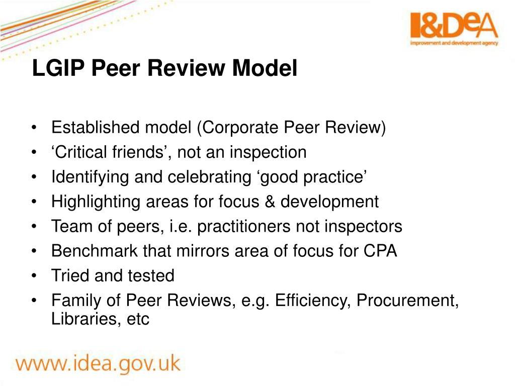 LGIP Peer Review Model