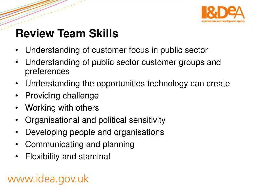 Review Team Skills