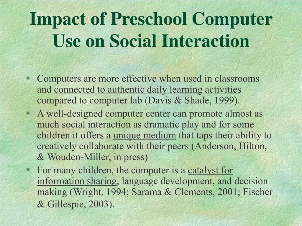 Impact of Preschool Computer Use on Social Interaction