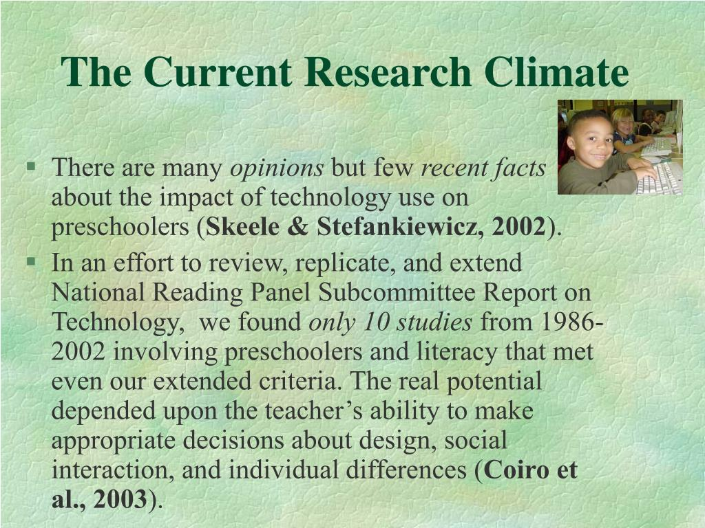 The Current Research Climate