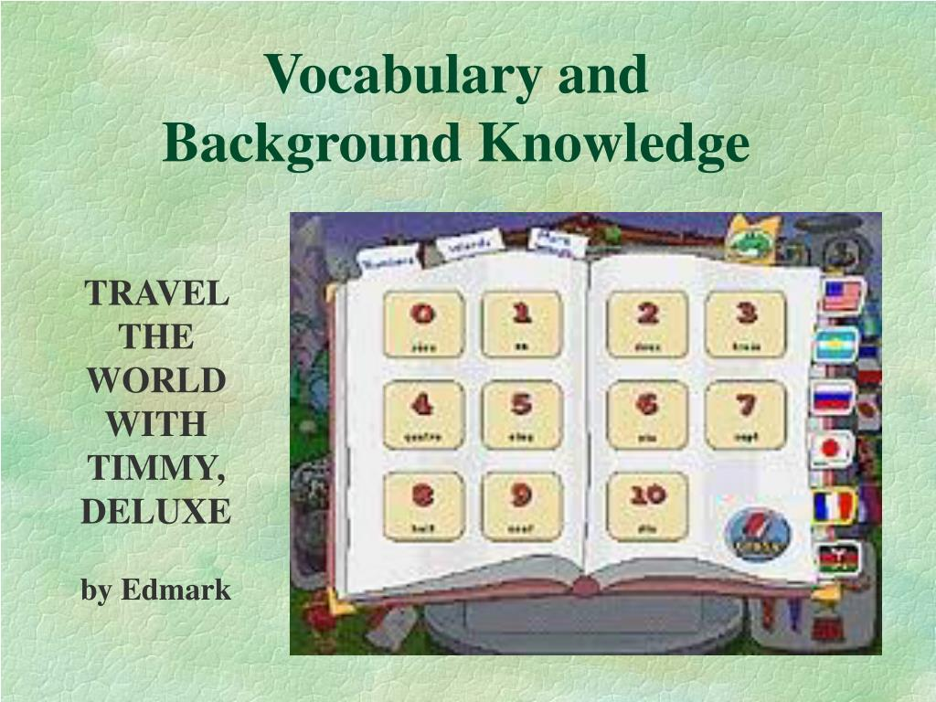 Vocabulary and