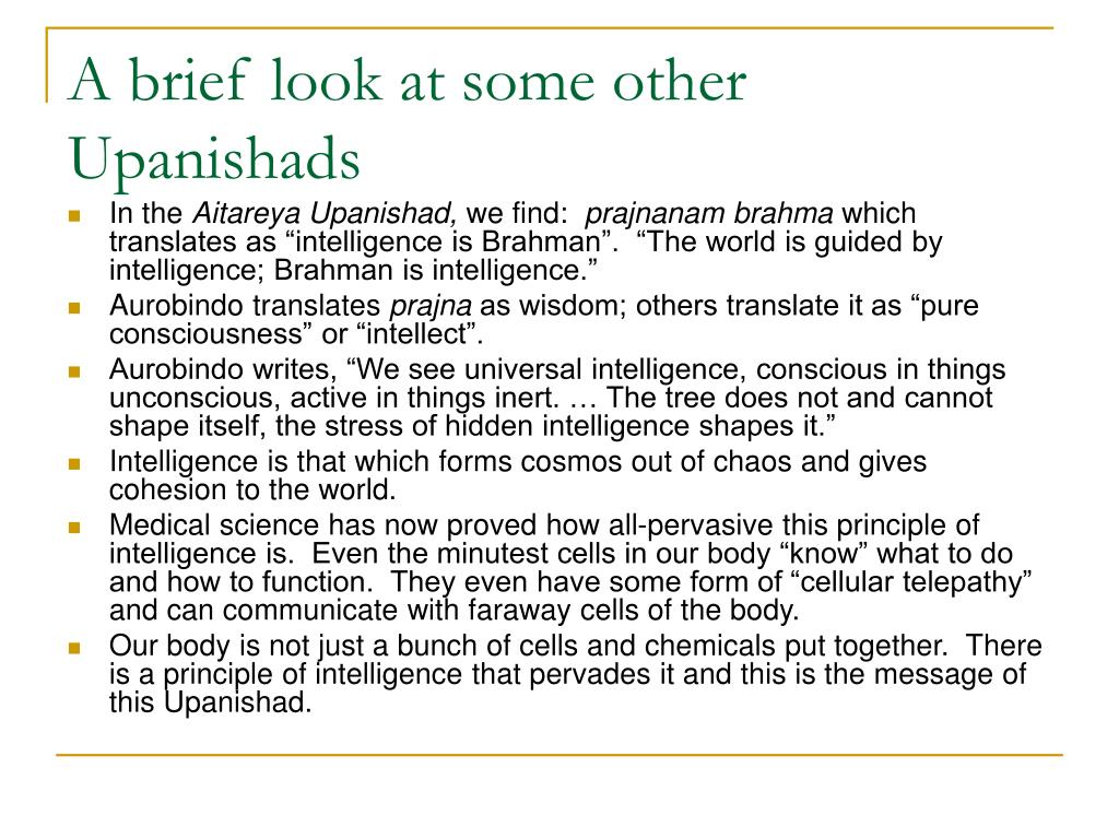 A brief look at some other Upanishads