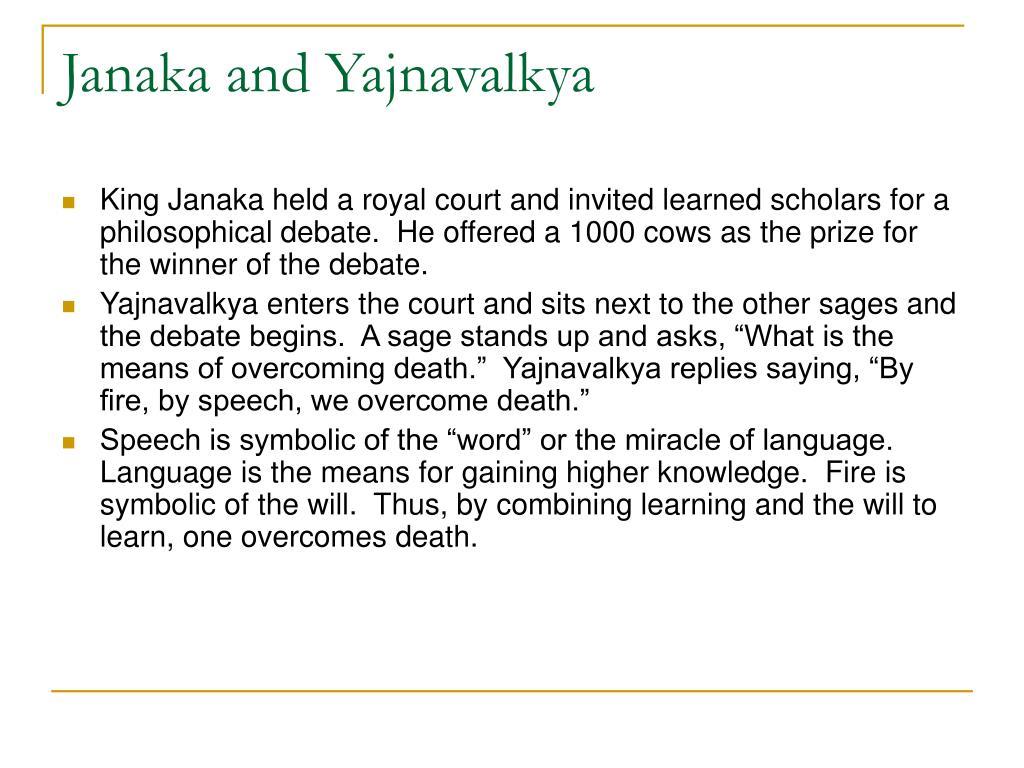 Janaka and Yajnavalkya