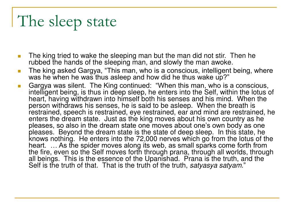 The sleep state