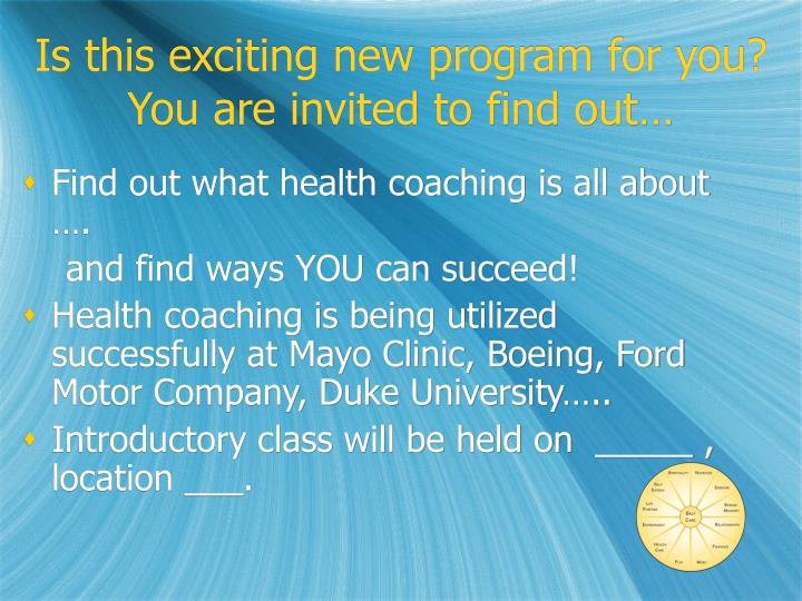 Is this exciting new program for you?