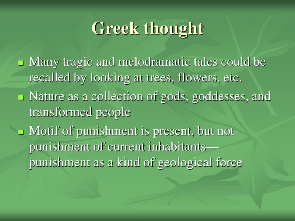 Greek thought