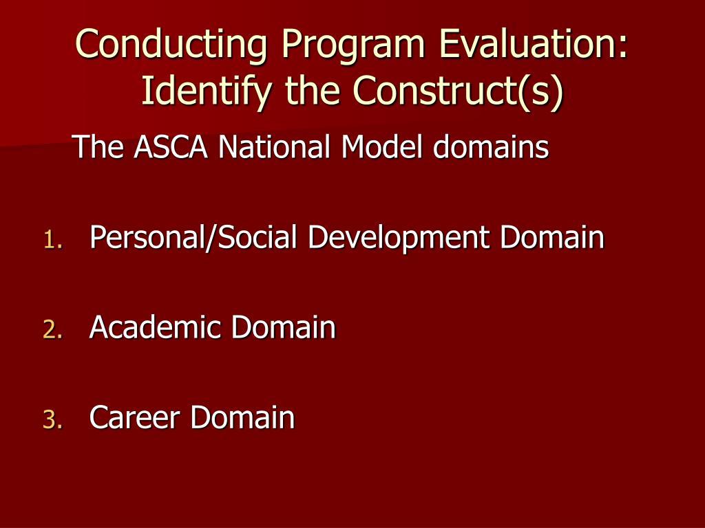 Conducting Program Evaluation: