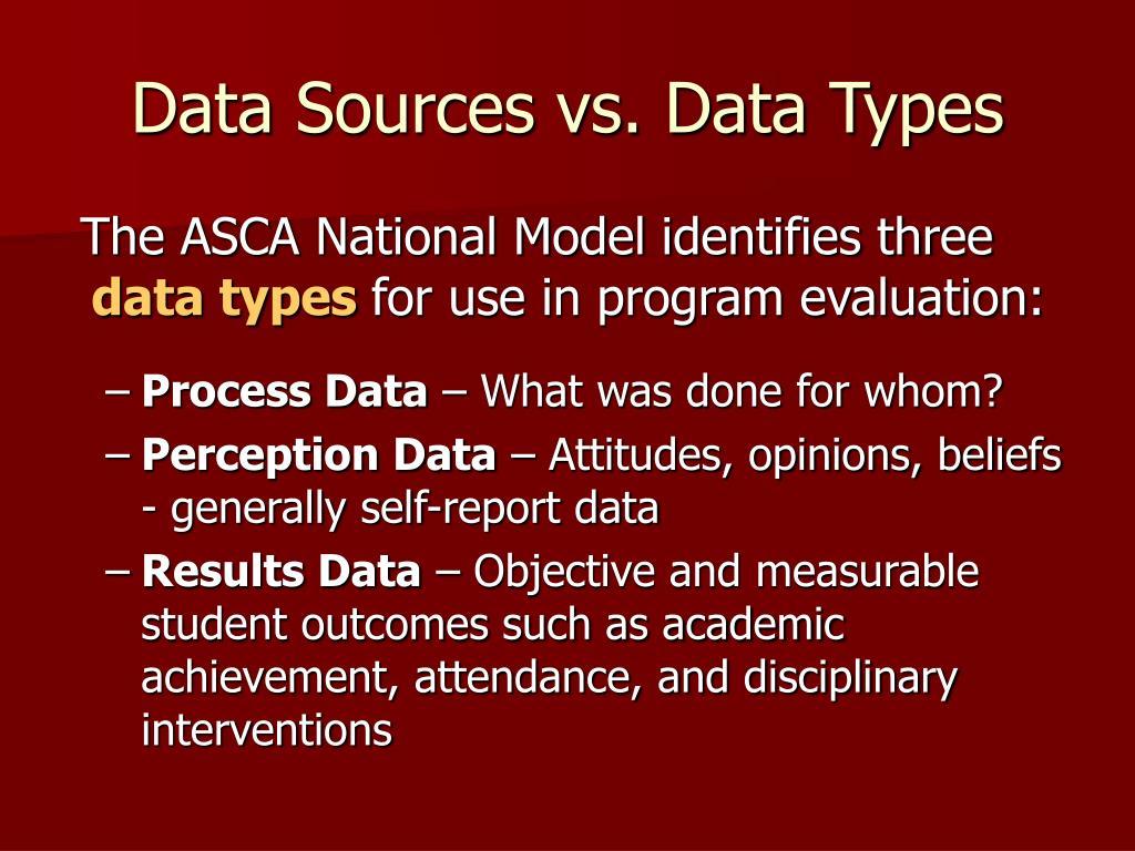 Data Sources vs. Data Types