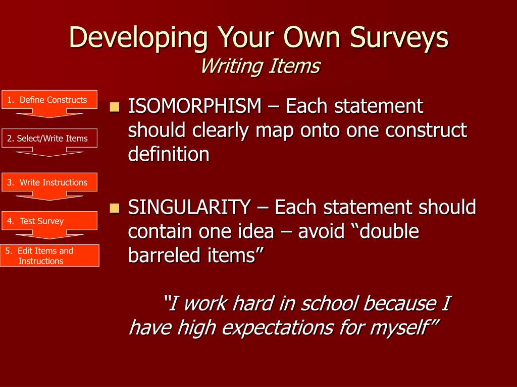 1.  Define Constructs